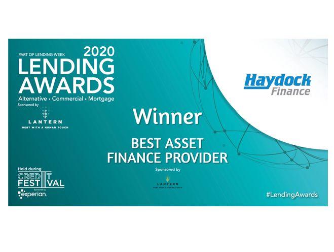 Haydock Wins Asset Finance Provider of the Year