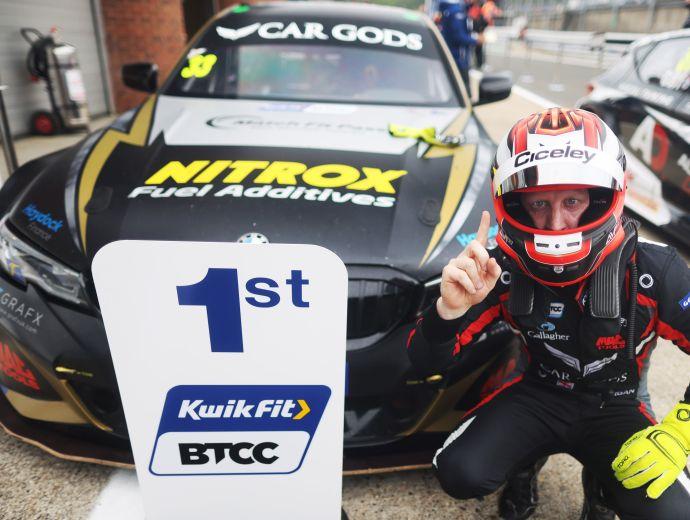Haydock Celebrate Sponsored Race Driver's Brands Hatch Win